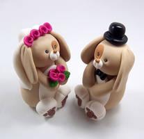 Bunny Theme Wedding Topper by HeartshapedCreations
