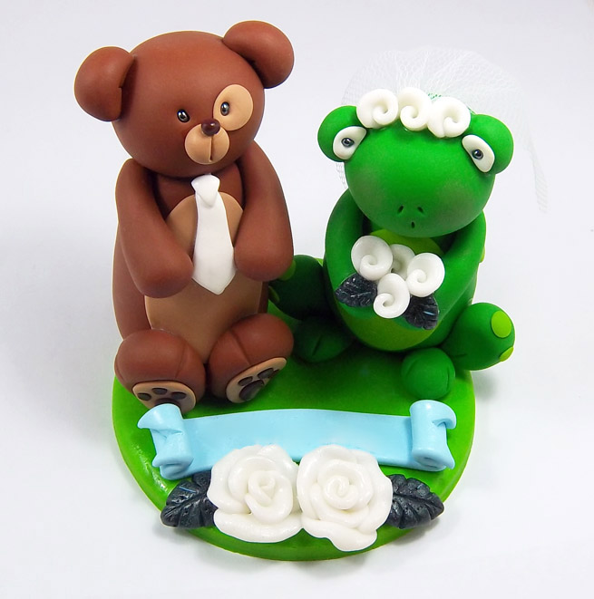 frog wedding cake toppers and frog wedding cake topper by heartshapedcreations 14499