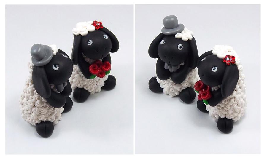 Black Sheep Wedding Cake Topper By HeartshapedCreations On DeviantArt
