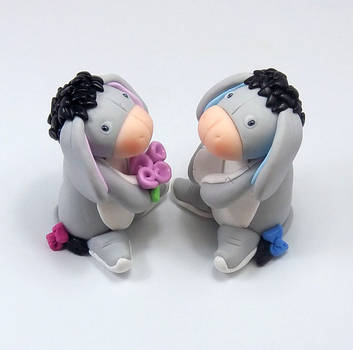 Donkey Wedding Cake Topper by HeartshapedCreations