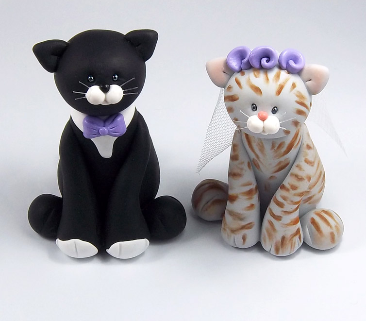 cat wedding cake toppers tuxedo cat and tabby wedding cake topper by 2519