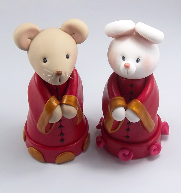 chinese zodiac wedding cake toppers rat and rabbit zodiac wedding cake topper by 12675