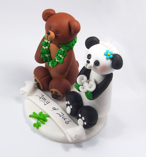 brown bear wedding cake toppers brown and panda wedding cake topper by 12190