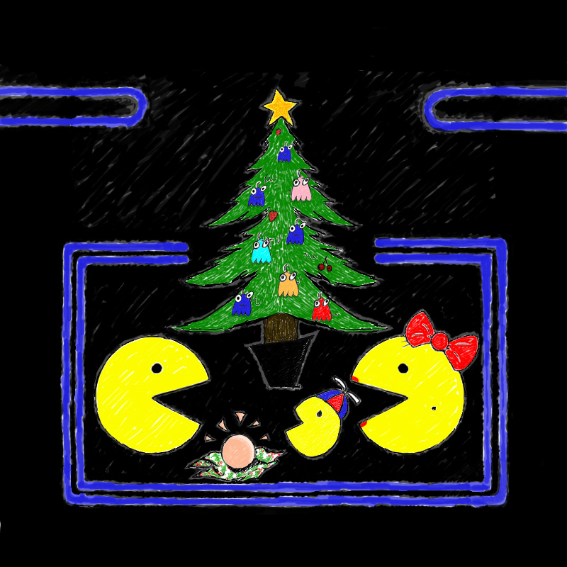pac man family christmas by arcade art on deviantartpac man family christmas by arcade art