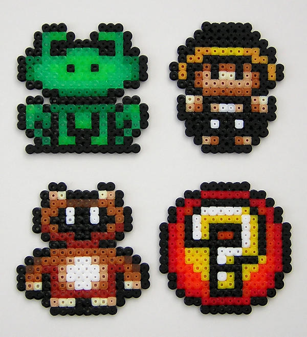 Mario Suits Magnets by arcade-art