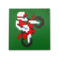 Mini Moto - Videogame Art on Wood Panel