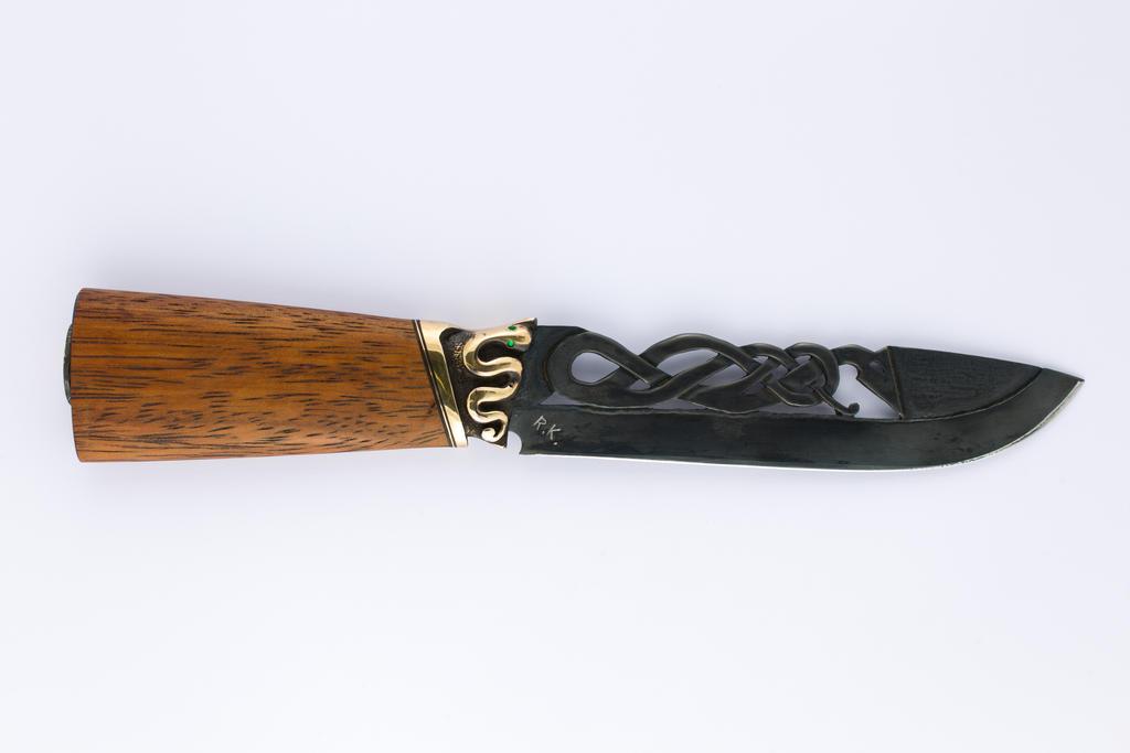 Viking dragon knife with snake by BaldurJewelry