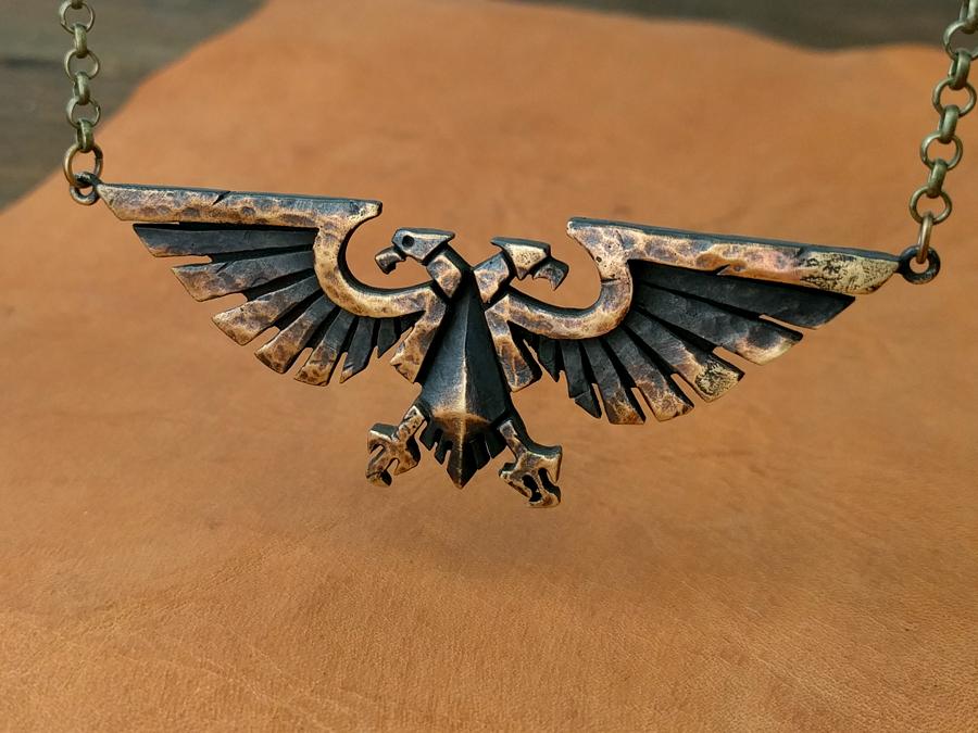 Warhammer 40k Emperor Of Mankind Imperial Aquila By Baldurjewelry On Deviantart