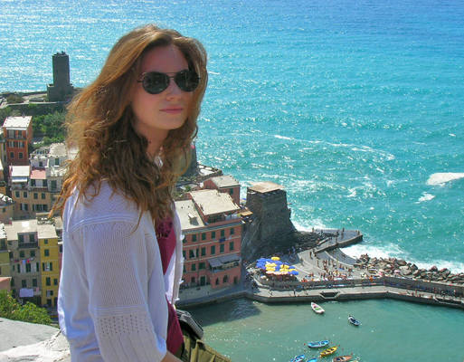 Jenn in Vernazza