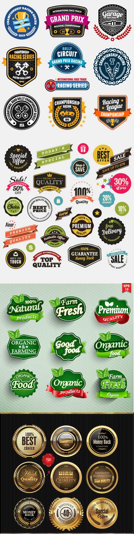50 Logo / Badge / Insignia Vectors by creatily