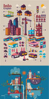 City Infographic Vectors Template by creatily
