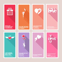 Valentines Signs, Banners, Greetings Cards Vector by creatily