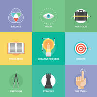 Bundle of Flat Design Illustrations by creatily