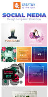 Social Media Templates Design Collection by Creati by creatily