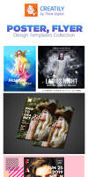 Poster Templates Design PSD Collection by creatily