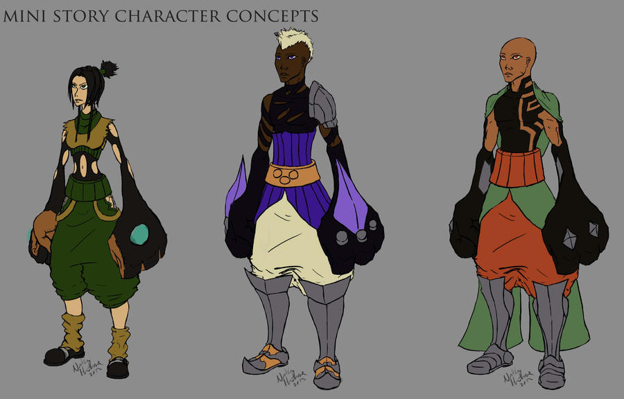 Character Design Kit : Character designs set by hawthornearts on deviantart