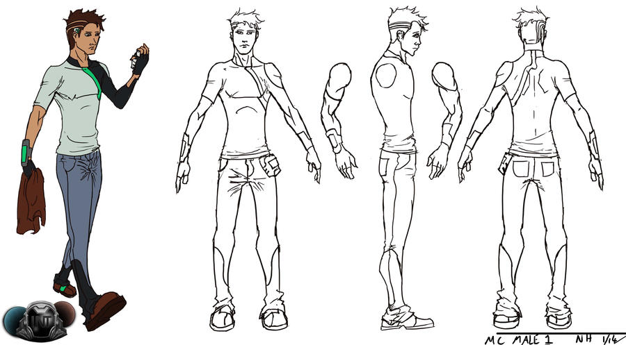 Male Character Design Sheet : Int male character concept by hawthornearts on deviantart
