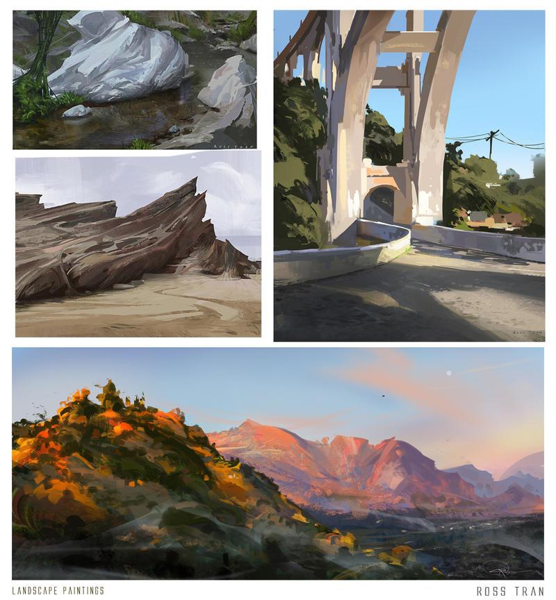 Landscape studies by Rossipoo