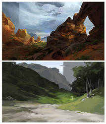 Landscape Studies by rossdraws
