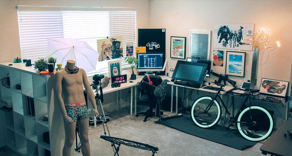 New Workstation Progress!! by rossdraws
