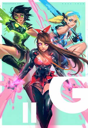 Power Puff Girls : YouTube! by rossdraws