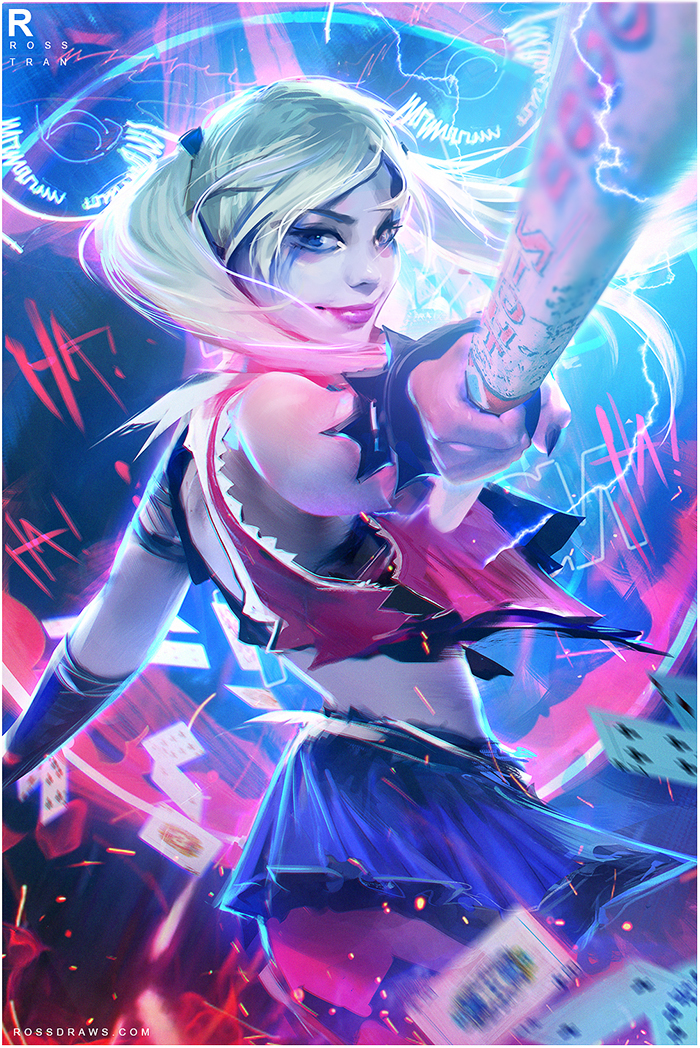 Harley Quinn :YOUTUBE! by rossdraws