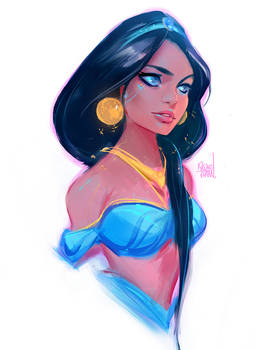 Princess Jasmine Sketch :)