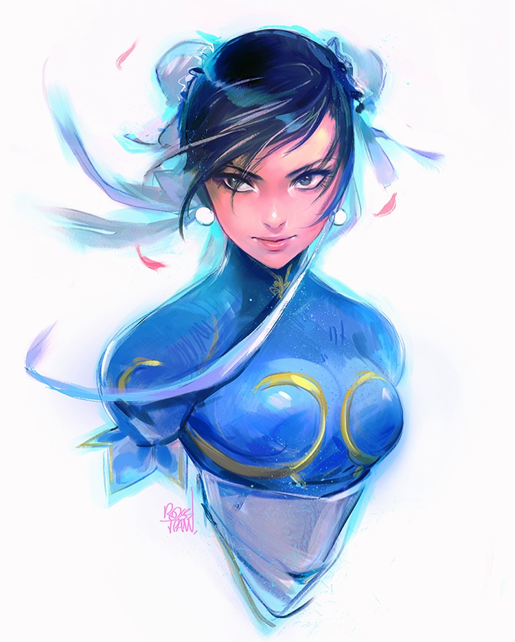 Chun Li Sketch by rossdraws