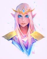 Princess Zelda Sketch by rossdraws