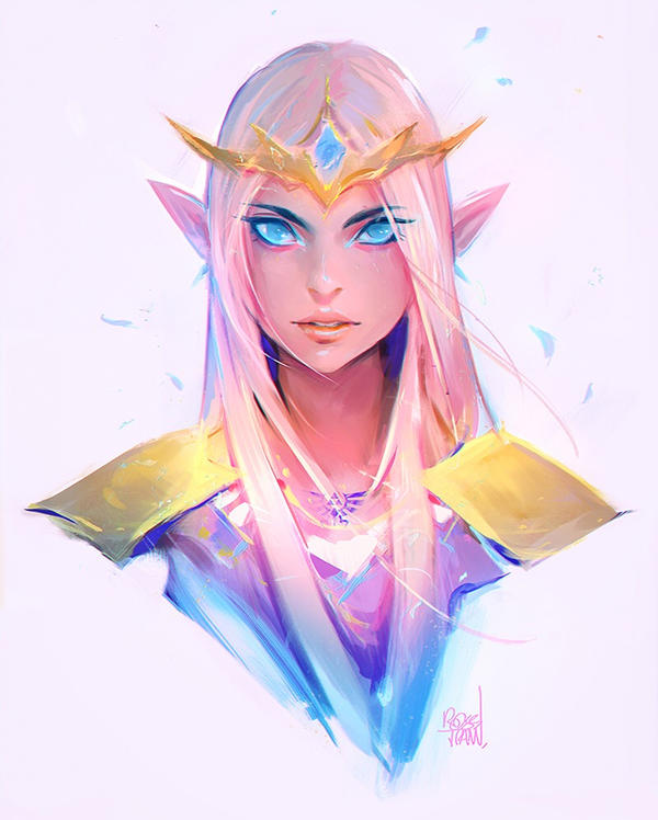 Princess Zelda Sketch By Rossdraws On Deviantart