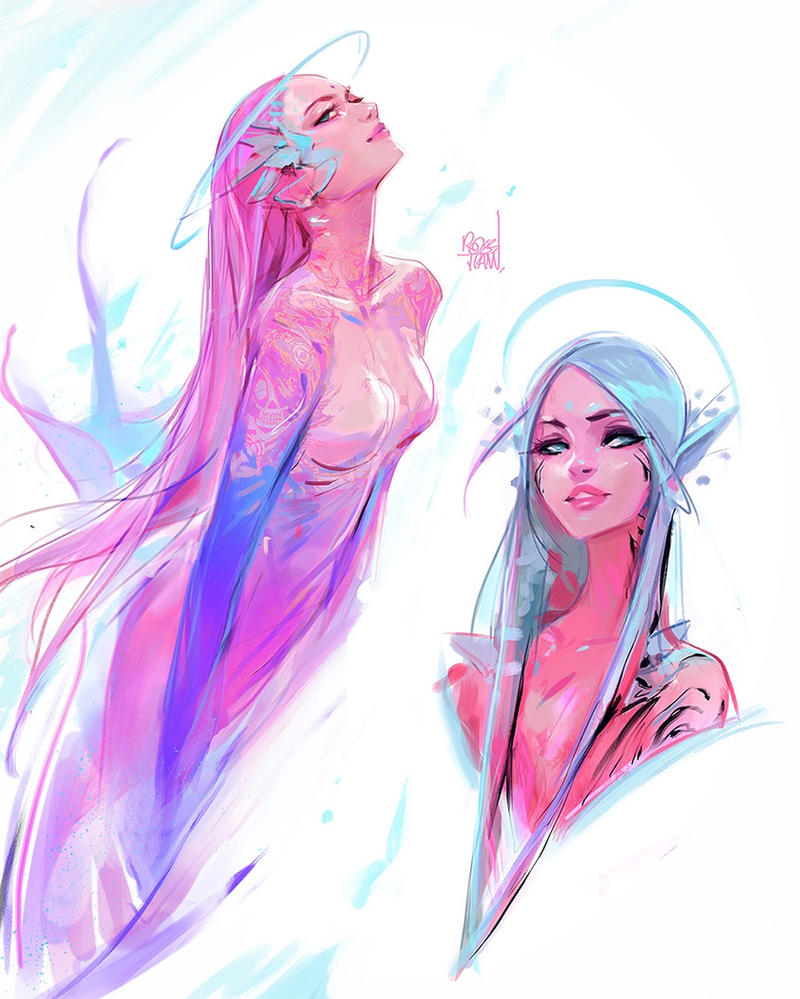 astro mermaids by rossdraws on deviantart