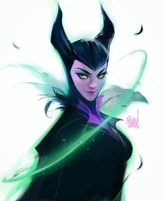 Maleficent Sketch by rossdraws