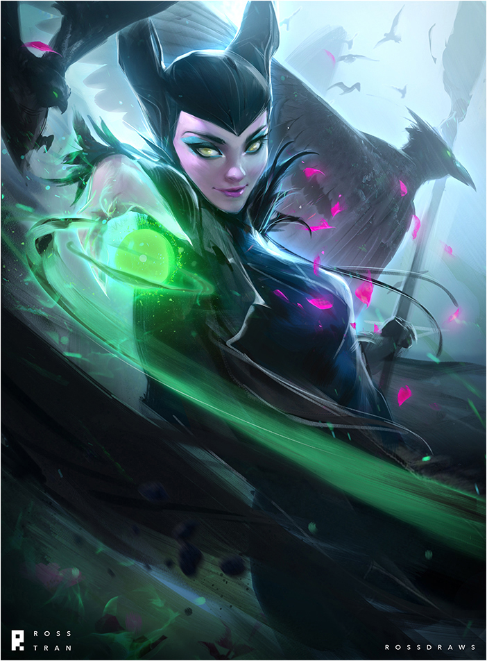 Maleficent : YouTube! by rossdraws