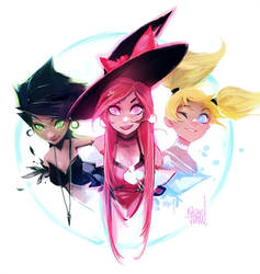 PPG Witches Sketch by rossdraws