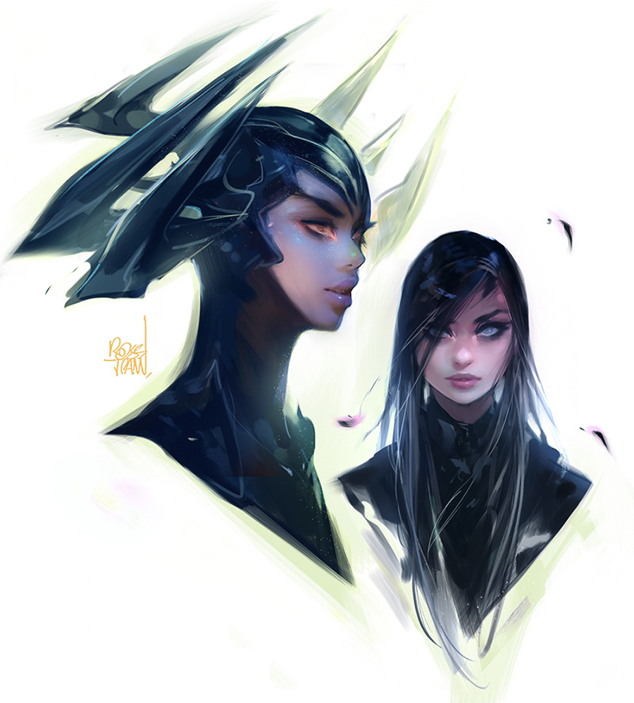 Hela Sketches by rossdraws