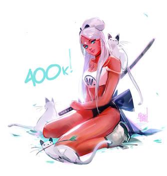 400k! by rossdraws