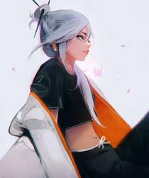 Kimono Lady by rossdraws