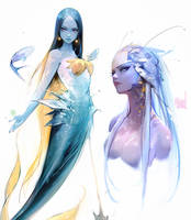 Mermaid Sketches by rossdraws