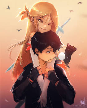 Kirito And Asuna: White Rose