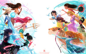 Disney Princess Battle Royale : YouTube! by rossdraws
