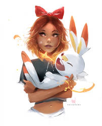 Scorbunny by rossdraws