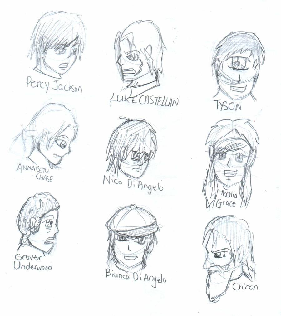 Percy jackson characters by samzhengpro