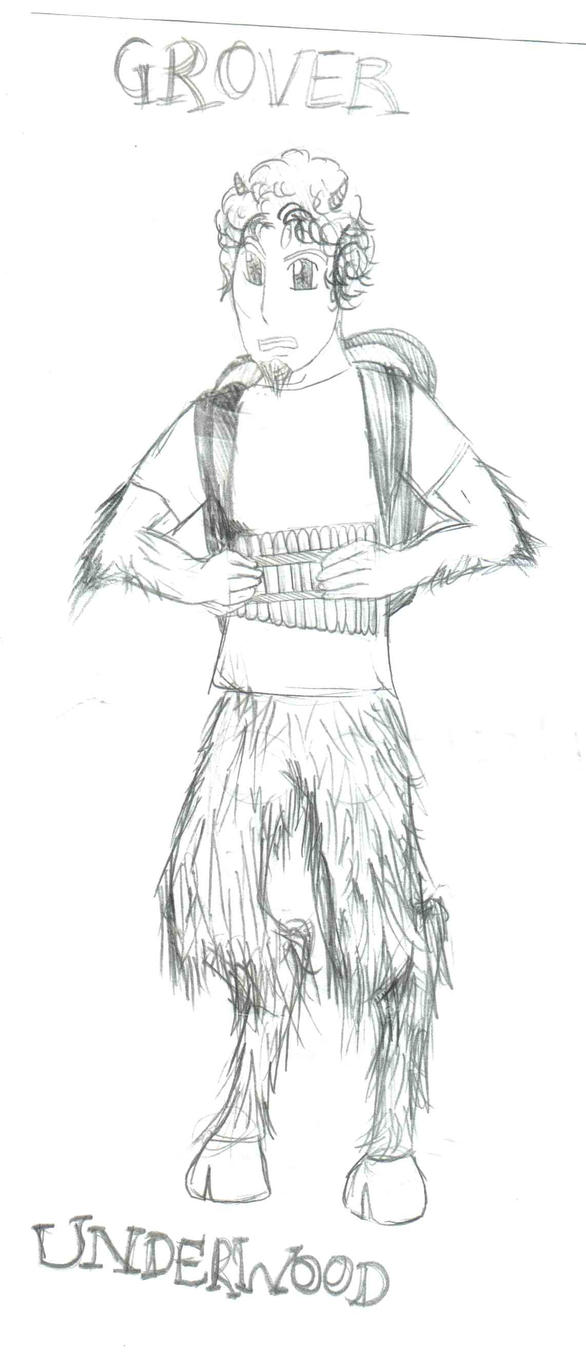 Grover underwood satyr full body sketch coloring page for Grover coloring pages