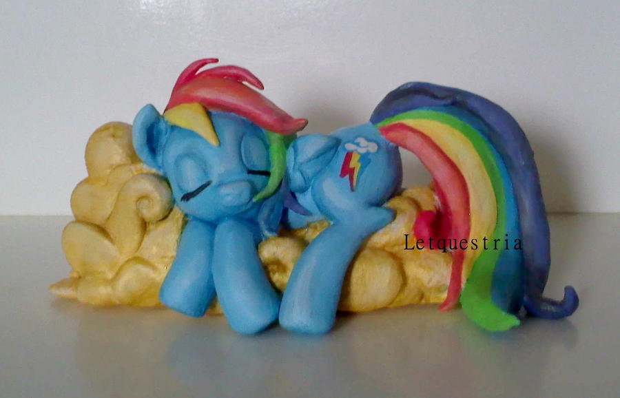Handmade Rainbow Dash Sculpture Sold By Ltiachan On