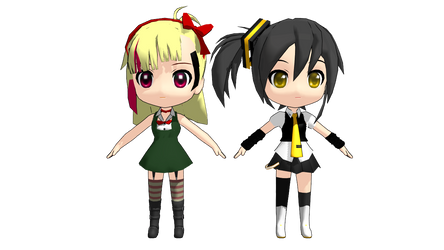 [MMD] Two WIPs I am proud of showing