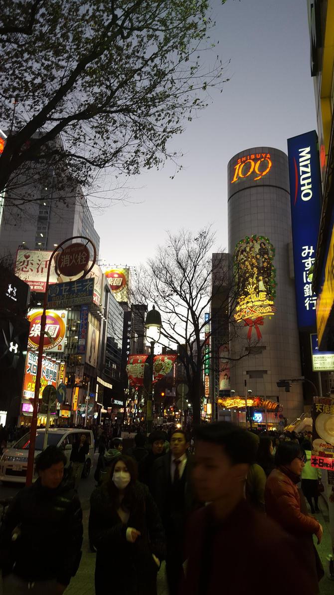 Shibuya Tokyo by Cairdiuil