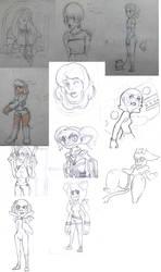 Doodles first semester by JoyDDi