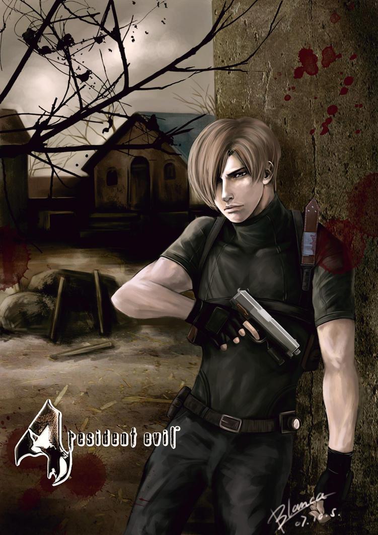 Resident evil 4 leon by rabbitblanca