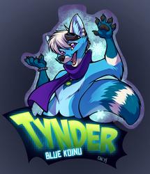 Tynder! Digital ConBadge Commisson by Chebits