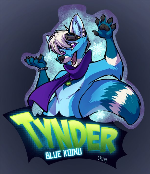 Tynder! Digital ConBadge Commisson by Chebits
